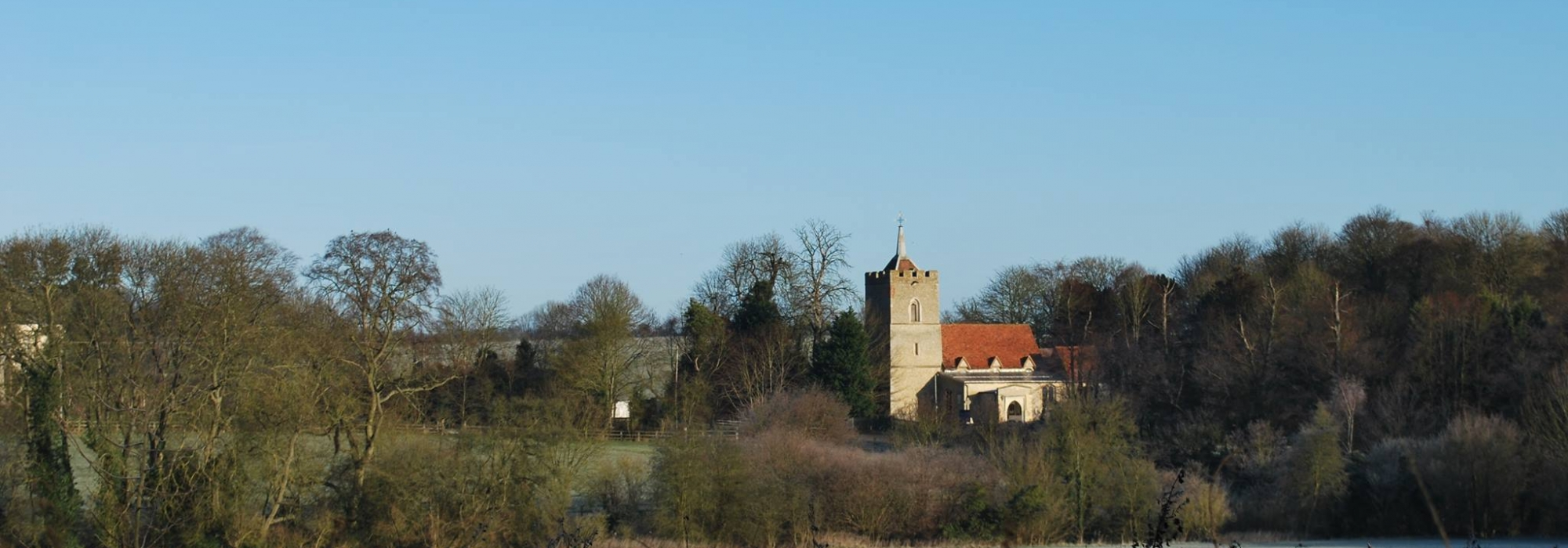 Church on horizon