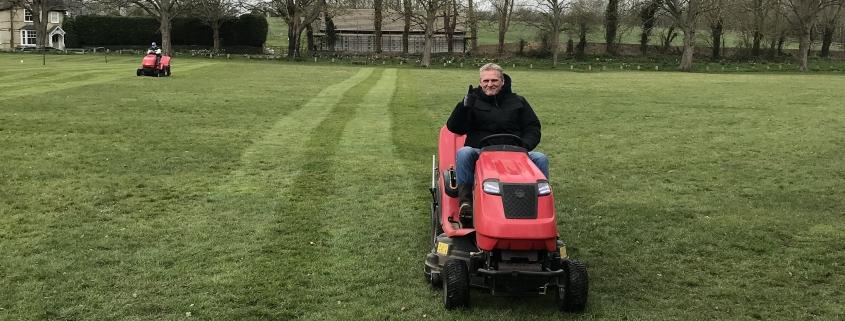 Man on mower